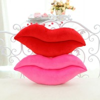 [] Bright Red Lips Pillow Creative Wedding Presses Gift Couples Lip Red Cushion