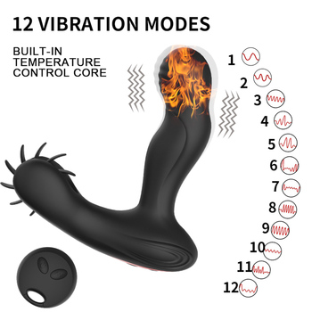 Male Prostate Massage Vibrator for men Wireless Remote Control Anal Vibrator Silicone Penis Delay Ejaculation Ring Adult Sex Toy 4