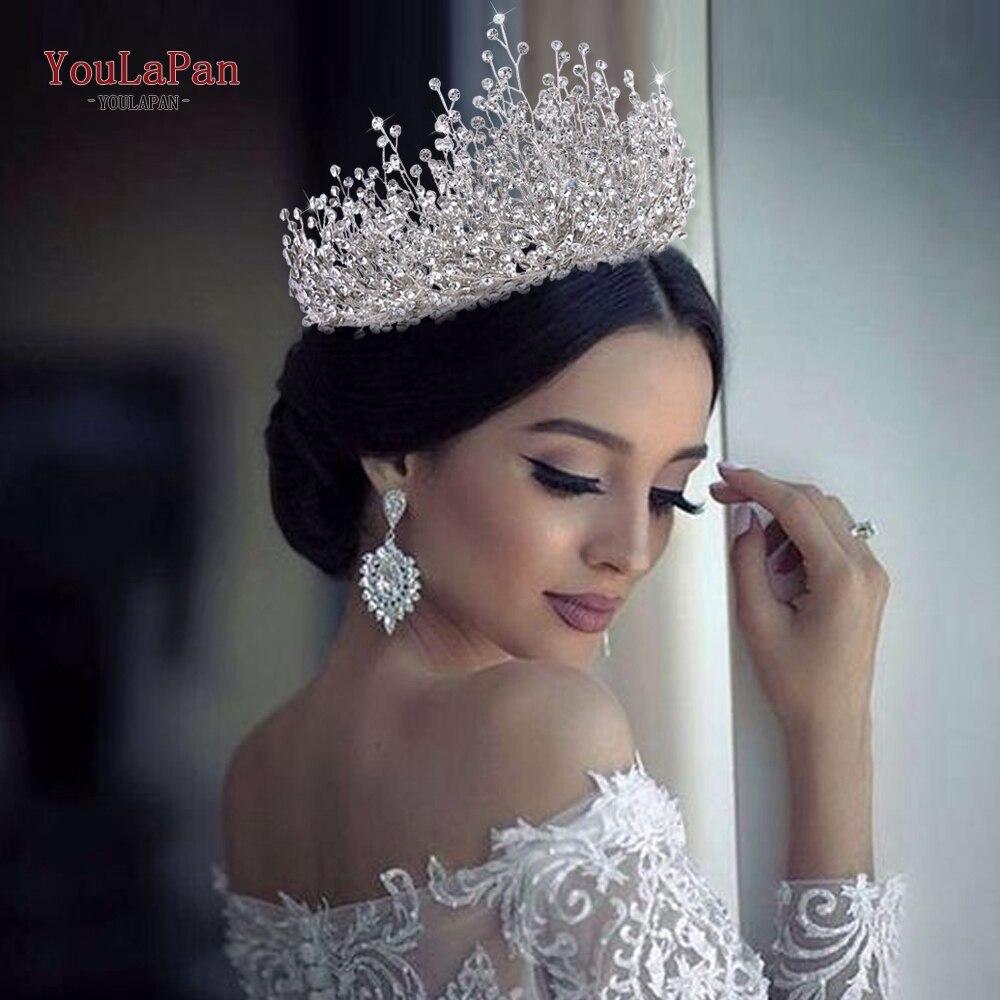 YouLaPan HP193P-S Свадебные украшения для волос стразы женские аксессуары для волос повязка на голову свадебный головной убор повязка на голову ко...