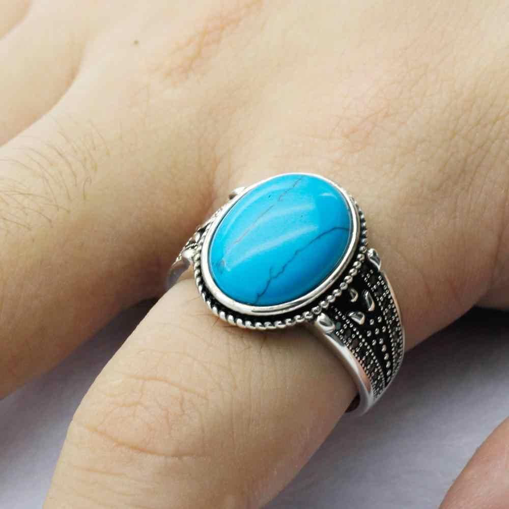 Türkis Ring 925 Sterling Silber gestempelt