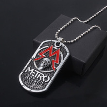 MIDY Game Metro Exodus 2033 Necklace Pendants Classic Dog Tag Skull Metal Choker Women Men Jewelry Accessories game metro 2033 keychain letter metro exodus skull dog tag pendant key chain for men car keyring llaveros jewelry