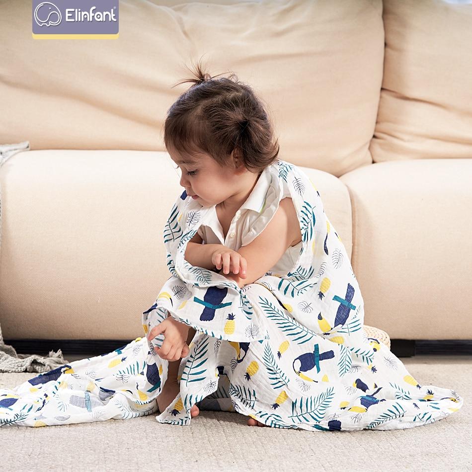 Elinfant Muslin Cotton Swaddles Washable Baby Blamkets For Newborn Baby Blankets Black & White Gauze Bath Towel Freeshipping