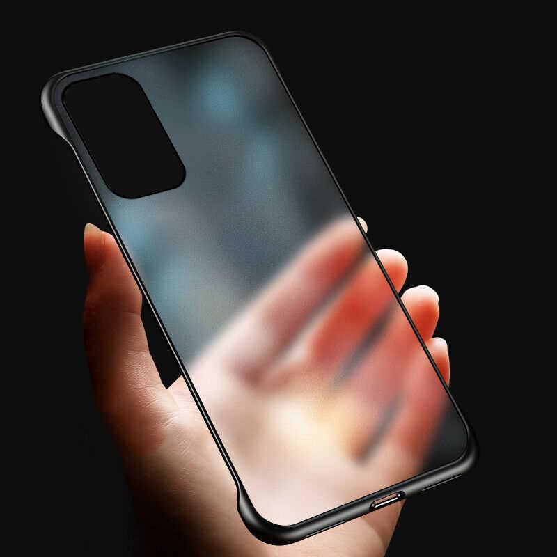 Tanpa Bingkai Matte Phone Case untuk Huawei P40 Lite 30 P20 Penutup Transparan untuk Huawei Mate 20 Pro Nova 7 y7 Perdana 2020 Case
