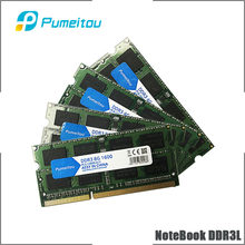 Pumeitou AMD Intel RAM DDR3 DDR3L 4GB 8GB 1333 1600MHz Laptop Memoria NoteBook Speicher 204pin 1,35 V neue RAMs