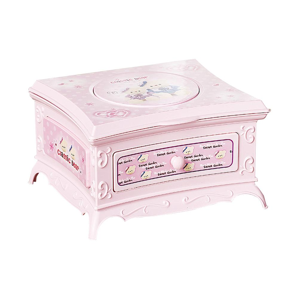 Rotating Girl Storage Music Box Classical Dressing Table Creative Jewelry Storage Box With Makeup Mirror