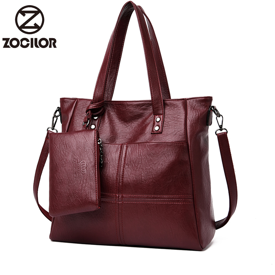 Soft Leather Women Bags Large Capacity Women Shoulder Messenger Bag Handbag Famous Big Bag Designer Handbags High Quality Sac