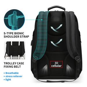 Image 3 - Fenruien Fashion Business Large Capacity Laptop Backpack Men Multi Function USB Charging Travel Backpack School Bag for Teenager