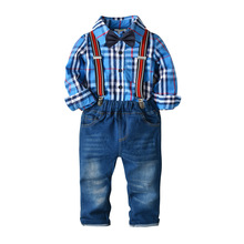 2019 Autumn Plaid Boys Clothing Set Summer Baby Suit Shorts Shirt Children Kid Clothes Suits Formal Wedding Party Costume toddler boys clothing set summer baby suit pants shirt 2 6 year children kid clothes suits formal wedding party costume