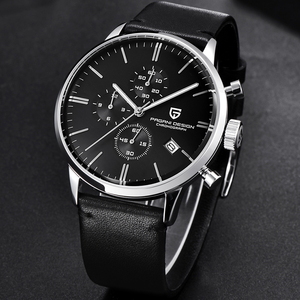 Image 3 - Top Brand Luxury PAGANI Design Chronograph Leather Mens Watches Quartz Fashion Sport Military Wristwatch Men relogio masculino