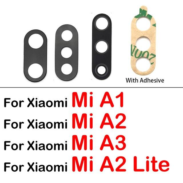 Couvercle dobjectif arrière en verre pour caméra avec adhésif pour Xiaomi Mi A3 A2 Lite A1 5X 6X