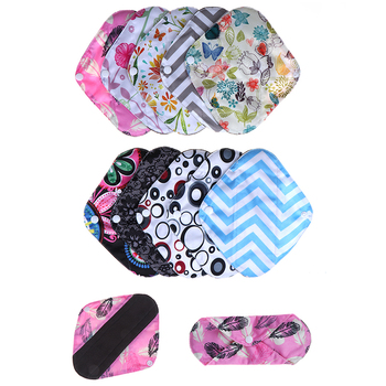1Pc 20*18cm Women Organic Bamboo Inner Mama Pads Pantyliner Reusable Cloth Menstrual Pads With , For Light Flow Days image