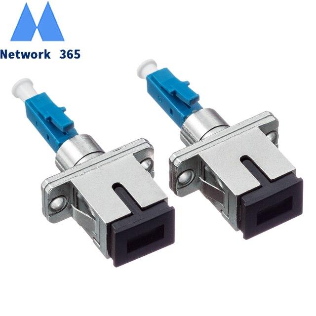 2 pcs/lot SC femelle à LC mâle LC/UPC SC/UPC adaptateur à fibres optiques pour Fiber optique monomode Simplex pour queue de cochon