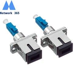 Frete grátis lc/UPC-SC/upc adaptador de fibra óptica sc fêmea para lc macho para modo de fibra óptica simples para trança de fibra