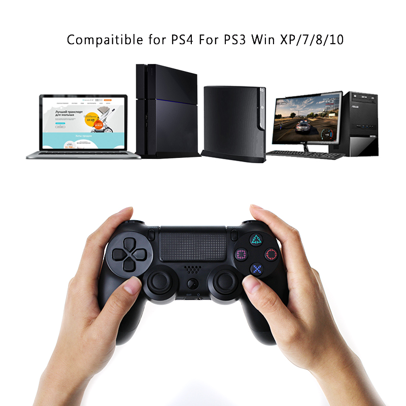 Bluetooth Gamepad and Wireless Game controller with Audio Function for PS4 and PS3 18