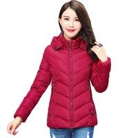 Women's winter jacket short sleeve tights in autumn 2019 Parka thin overcoat women's winter overcoat