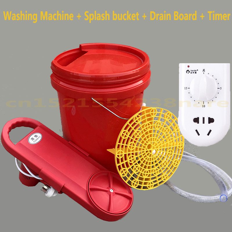 Portable Mini Washing Machine Timing Wall Hanging with Prevent Splashing 20L Bucket Clothes Washer Fast Wash with 1m Drain 150W image