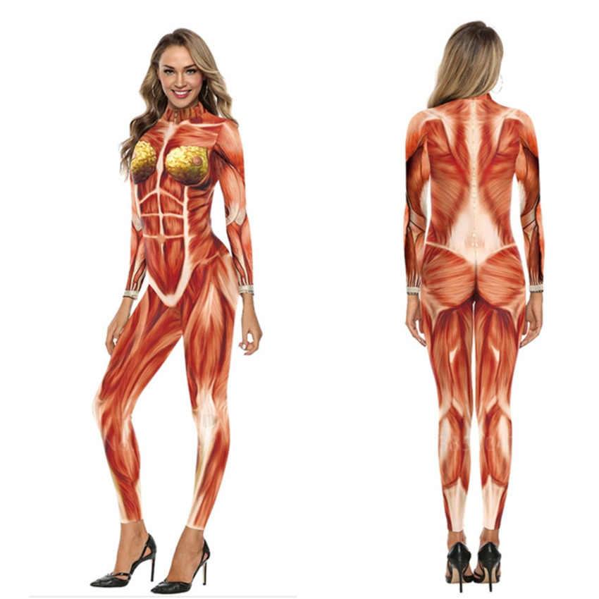 Halloween Costumes 2020 Skeleton 2020 Adult Women Horror Demon Cosplay Carnival Disguise Catsuit