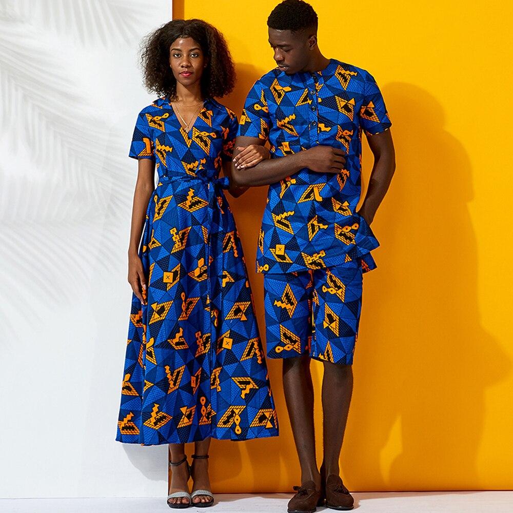 African Men Clothes African Couples Clothes Ankara Print Summer Set Clothes Cotton Shirt Pant Set African Men Clothes On Holiday