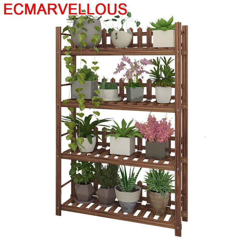 Plante Estante Para Plantas Terraza Wood Living Room Shelf For Rack Dekoration Stojak Na Kwiaty Outdoor Flower Plant Stand