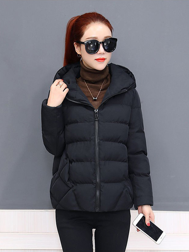 Plus size women winter jacket cotton loose short parkas women outwear designer warm hooded female coat jaqueta feminina DR1192 (11)