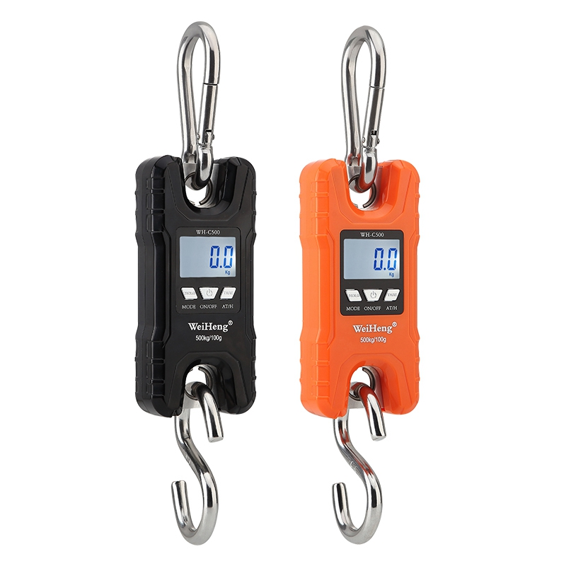WeiHeng Crane <font><b>Scale</b></font> 150KG 500KG <font><b>Digital</b></font> Stainless Steel Hook Hanging <font><b>Scales</b></font> <font><b>200kg</b></font> 300kg LCD Loop Fish Heavy Duty Weight Balance image