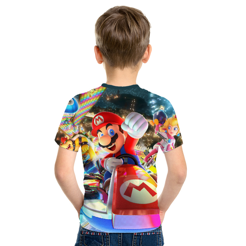 Image 3 - 2019 New Game Super Mary Kids Funny Tops T shirt Full Color O neck hrarjuku 3d Printed Tees Game boys girls Casual Clothing Kid-in Matching Family Outfits from Mother & Kids