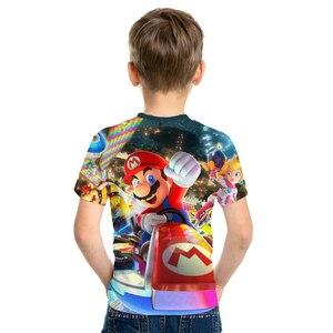 Image 3 - 2019 nuevo juego Super María chico s camisetas divertidas camiseta a todo Color cuello redondo hrarjuku 3d Camisetas estampadas juego chicos chicas ropa Casual chico
