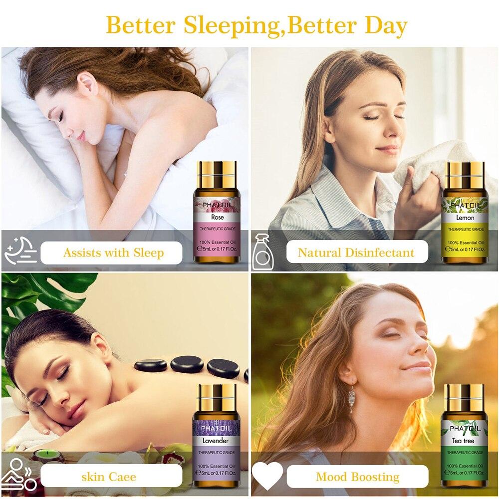 Pure Essential Oils 15pcs Gift Set Natural Plant Aroma Essential Oil Diffuser Eucalyptus Vanilla Mint Geranium Rose Tea Tree Oil-4