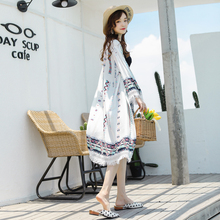 2021 new summer loose mid-length sunscreen clothes Korean style seaside vacation all-match jacket
