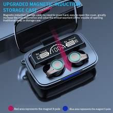 M18 bluetooth 5.1 fone de ouvido controle toque sem fio headphons alta fidelidade ipx7 à prova dwaterproof água fones com display led carregamento box1