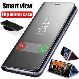 Image 1 - Smart Mirror Flip Case For Samsung Galaxy Note 10 9 8 S10 S9 S8 Plus S7 A9 A7 A8 2018 A10 A20 A30 A50 A60 A80 A70 M10 A20E Cover