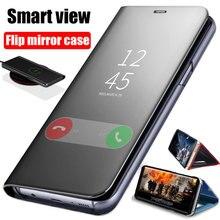 Thông minh Gương Lật Ốp Lưng Dành Cho Samsung Galaxy Samsung Galaxy Note 10 9 8 S10 S9 S8 Plus S7 A9 A7 A8 2018 a10 A20 A30 A50 A60 A80 A70 M10 A20E Bao