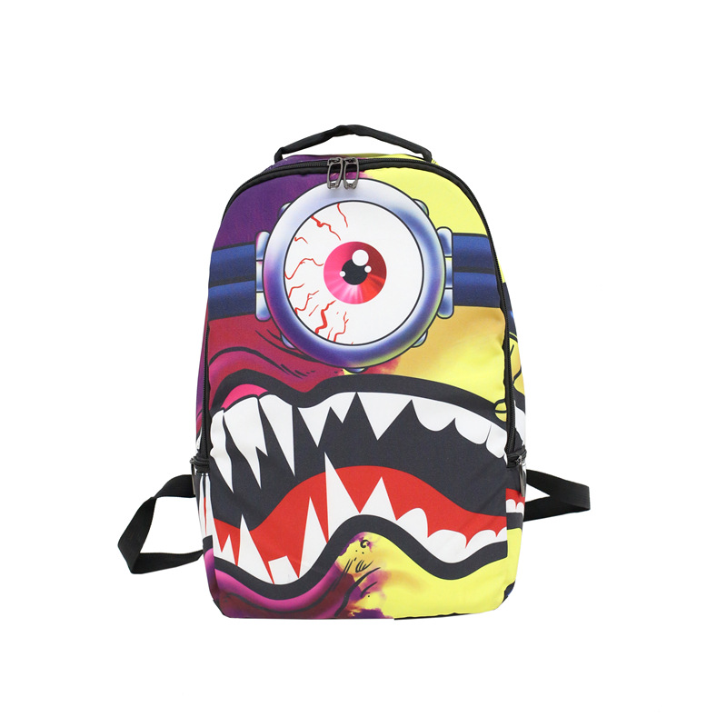 Men and women fashion backpack fashion nylon hip hop art unique large bag  mochila  bookbag