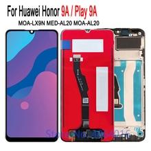 6.3 מסגרת תצוגה עבור HUAWEI Honor 9A מסך מגע עצרת Digitizer MOA LX9N LCD עבור Honer 9A תצוגת להחליף תיקון חלקי