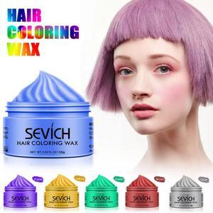 Image 3 - Sevich 120g Disposable Hair Color Wax Styling DIY Mud Paste Dye Cream Hair Gel Salon Unisex Hair Coloring Molding Dye TSLM2
