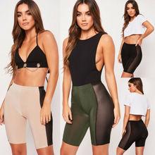 Мода Женщины Спорт Тренажерный зал фитнес-браслет узкие шорты для йоги штаны S-XL