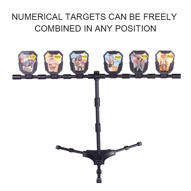 Reset Shooting Target With Stickers Bracket For Outdoor Hunting Foam Dart Blasters Practice Accessories Toy Gun Airsoft Hot Sale 4