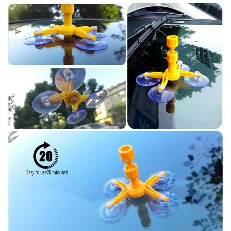 طقم تصليح الزجاج الأمامي إصلاح سريع سيارة زجاج مجروش الزجاج الأمامي أداة إصلاح عدة الراتنج السدادة لتقوم بها بنفسك السيارات نافذة الشاشة تلميع