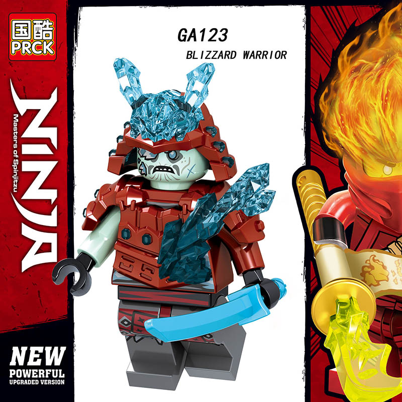 Single Sale LegoINGlys Figures Ninjagoes Weapon BLZZARD WARRIOR SWORDSMAN SWORD MASTER  Blocks Bricks Collection Toys Kid Gifts