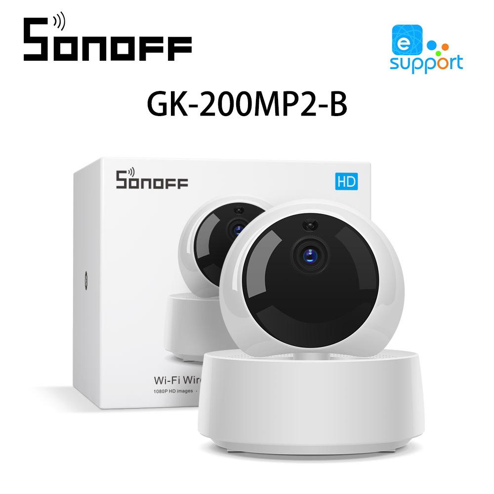 SONOFF GK-200MP2-B Wireless 1080P HD IP Camera Smart Mini Wifi Camera 360 IR Night Vision Baby Monitor Surveillance Cameras
