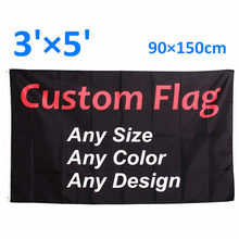 Custom Flags and Banners Printing 3x5 FT Flying Hanging Polyester Advertising Sports Decoration Company Logo,Free Shipping