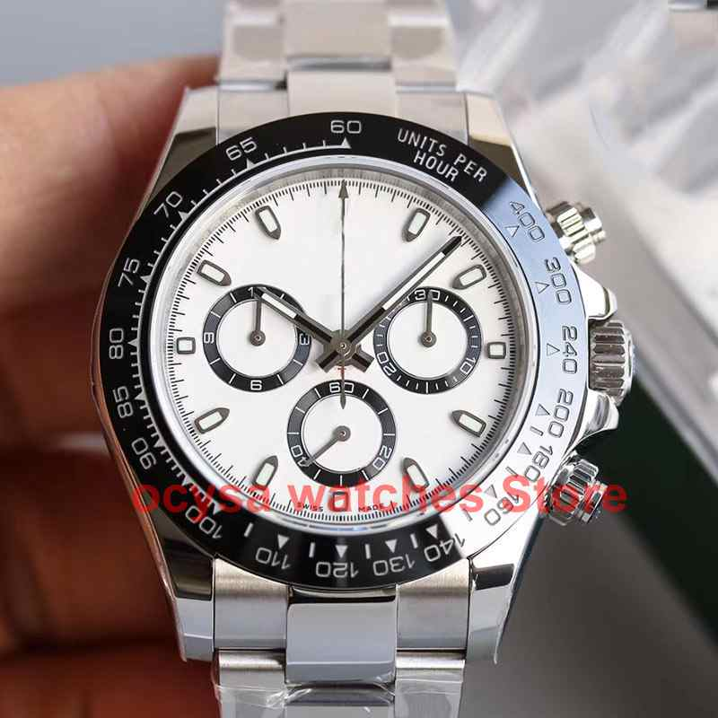 Full Function Working Chronograph 116500 Luxury Brand Mens Automatic Mechanical Water Proof Designer Watch Watches Wristwatch