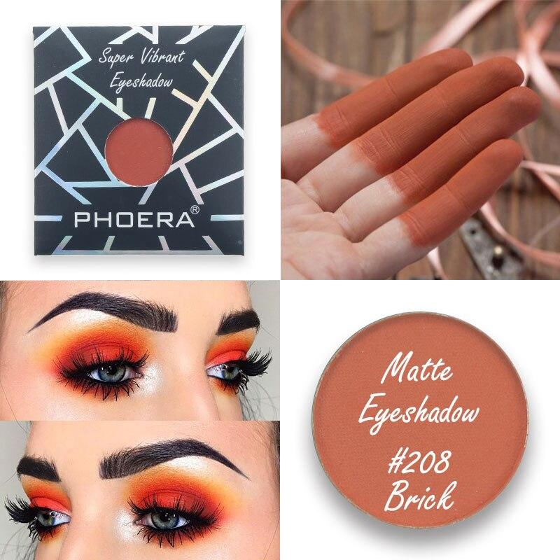 PHOERA 12 Color Optional Smokey Eyeshadow Palette Powder Matte Metal Eyeshadow Palette Makeup Cosmetics Gift Waterproof TSLM2