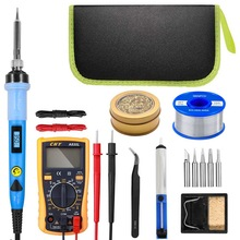 80W Digital Soldering Iron kit Electric Soldering Iron With On-Off Switch Knife Desoldering Pump Soldering Iron Tools