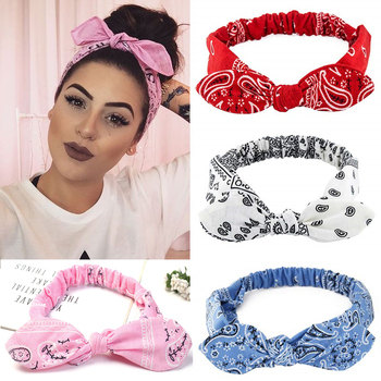 New Girls Vintage Cross Knot Elastic Hairbands Soft Solid Print Headbands Bandanas Girls Hair Bands Hair Accessories For Women недорого