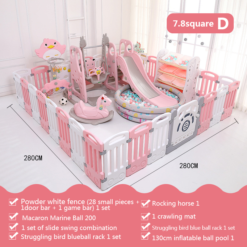 Baby Playpen Indoor Playgrounds Slide Family Amusement Park Baby Fence Mat Game Center Child Safety Fence Game Playen