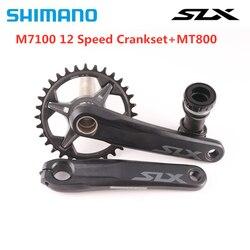 SHIMANO SLX FC-M7100 шатун 1X12S MTB велосипед цепное колесо 170 мм 175 мм 32T 34T с MT800 Нижний Кронштейн M7100 12 Скоростей