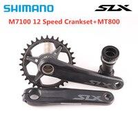 SHIMANO SLX FC-M7100 Crankset 12S MTB Bike Chainwheel 170mm 175mm 30T 32T 34T 36-26T With MT800 Bottom Bracket M7100 Crankset