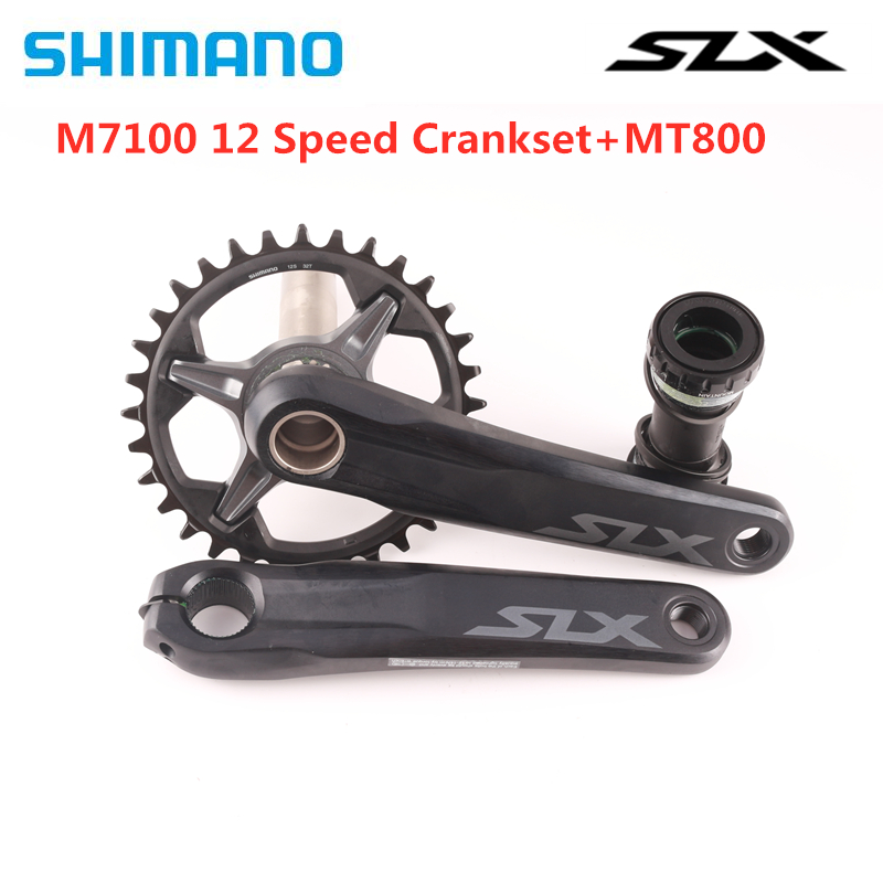 SHIMANO SLX FC-M7100 Crankset 1X12S MTB Bike Chainwheel 170mm 175mm 32T 34T With MT800 Bottom Bracket M7100 12 Speed Crankset