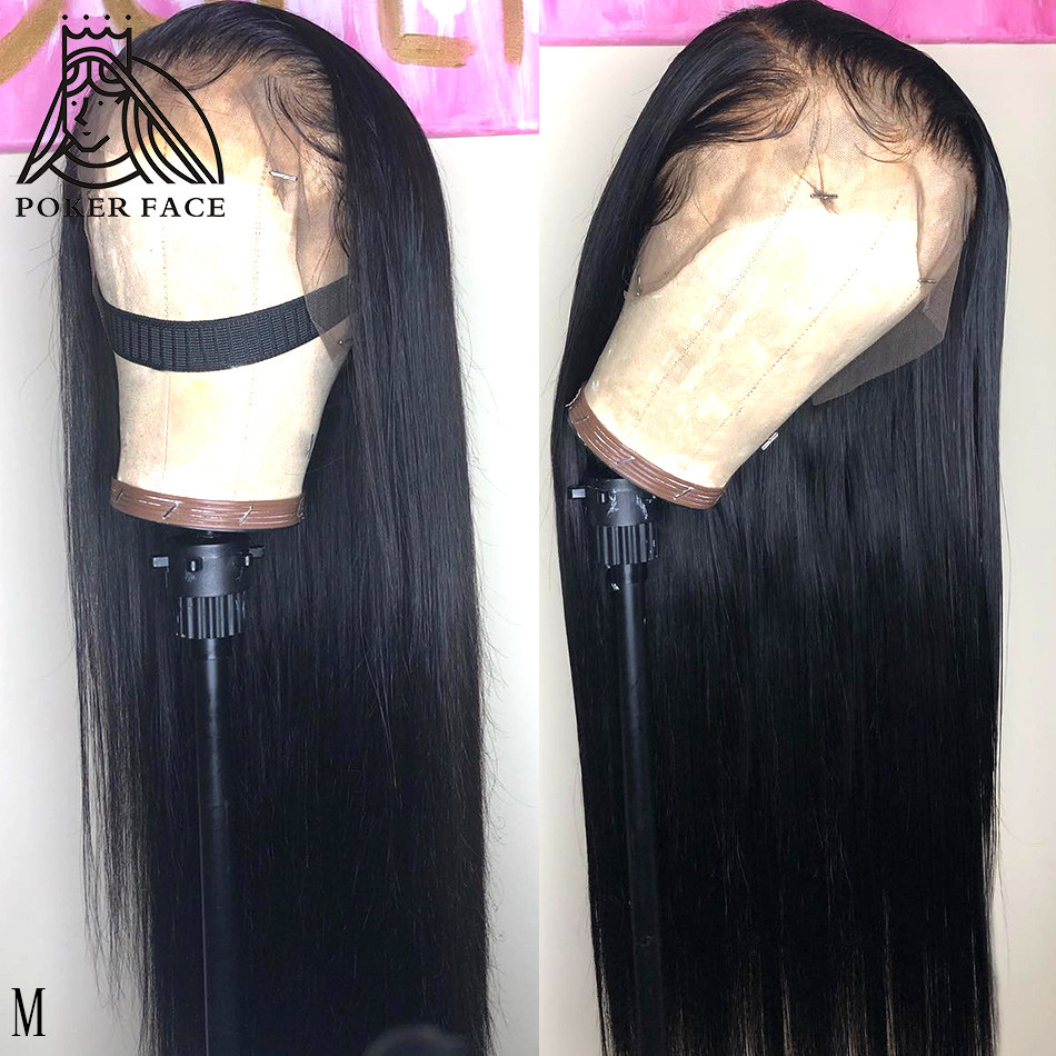 13x6 Lace Front Human Hair Wigs Brazilian 28 30 Inches Straight Lace Frontal Wig Pre Plucked With Baby Hair Remy 150 Density